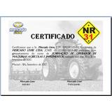 Certificado Operador De Máquinas E Implementos