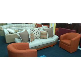 Sofa 3 Plazas Con Dos Sillones Hermosa