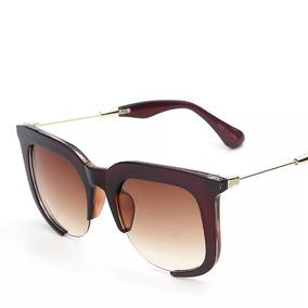 Óculos De Sol Miu Cor Principal Marrom no Mercado Livre Brasil 7539460f48