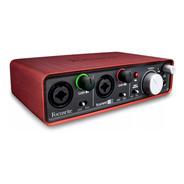 Placa De Audio Focusrite Scarlett 2i2 Grabadora 2da Gen Usb