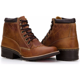 Coturno Masculino Country Couro Nobre Legítimo Capelli Boots