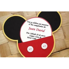 Tarjetas De Invitación Cumpleaños Mickey