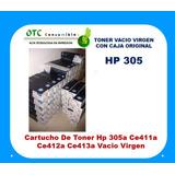 Cartucho De Toner 305a Ce411a Ce412a Ce413a Vacio Virgen