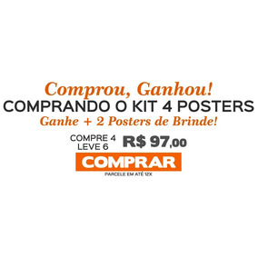 Kit 4 Poster Game Of Thrones Promoção + 2 De Brinde!