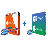 Office + Project + Visio Prof Plus 2016.