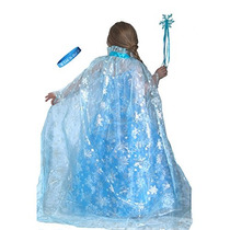 Congelados Brillante Inspirado Elsa Copo De Nieve Capa Con