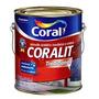 Tinta Coral Esmalte Coralit Brilh 3,6l Branco + Agua Raz 1l