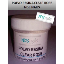 1/2 Oz 10 G Polvo Resina Clear Rose O Pink Nds Nails