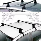 Barra Porta Equipaje Parrilla Auto Aluminio Regulable