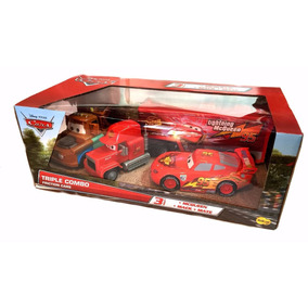 Rayo Mcqueen Disney Pixar Combo 3 Cars , Mack Y Mate