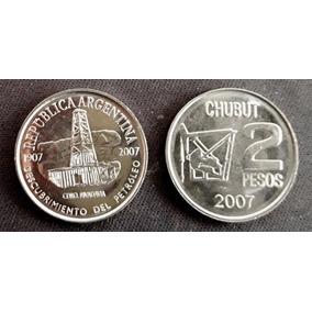 Argentina Moneda 2 Pesos Año 2007 Petroleo Chubut S/circular
