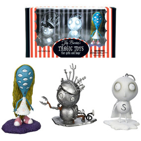 Set 3 Figuras Tragic Toys Tim Burton Dark Horse Deluxe Mod1