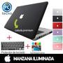 Carcasa Macbook Pro 13, Manzana Calada+protector Teclado+gel