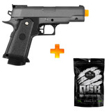 Pistola Airsoft Spring G10 Full Metal Galaxy + 2000 Bb 0.12g