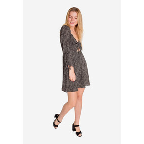 Vestido Animal Print Negro By Aspik