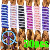 Qy 30pcs Bright Candy Colors Beads Barrettes Spiral Coil ...