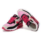 Zapatillas Nike Air Max 90 Rosa Negro Mujer Talla 37,5 Eur