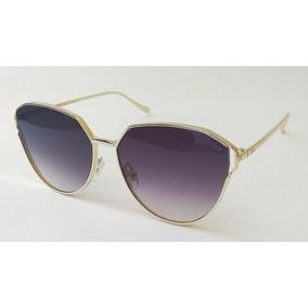 Óculos De Sol Feminino Dior Redondo Dourado Importado