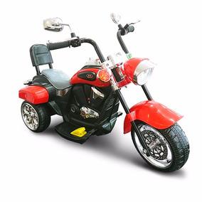 Moto A Bateria Chopera Infantil Luces Musica Pedal