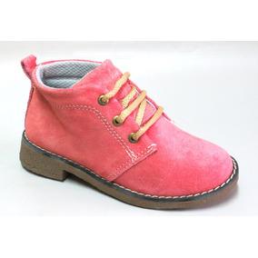 Zapatos Botita Gamuza Mujer Y Chicos