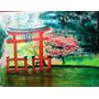 Obra De Arte Decorativa Japonesa - Oleo Sobre Lienzo