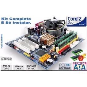 Kit Completo Placa Mãe Core 2 Duo E6300 + 2gb + Cooler