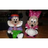 Adornos De Navidad En Cerámica Minny Y Mickey