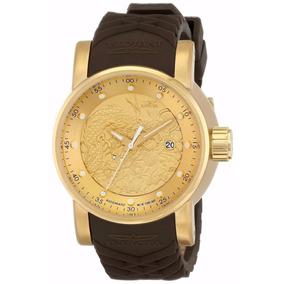 Relógio Invicta S1 Yakuza 12790 Marrom Bonito Inv36