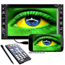 Central Multimidia Dvd 2 Din + Espelhamento Tv Gps Bluetooth