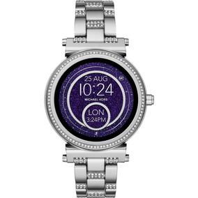Reloj Michael Kors Smartwatch Sofie Plata Con Cristales