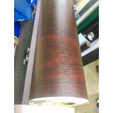 Vinil Decorativo Textura Madera Color Caoba