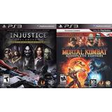 Injustice + Mortal Kombat 9 Ps3 | Digital Español Envío Ya!