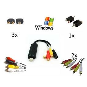 Placa De Captura Usb 2.0 Para Ps2 Ps3 E Xbox Windows7,8,10.
