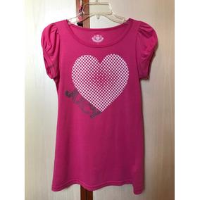 Camiseta Juicy Couture Original Rosa Importada Coração