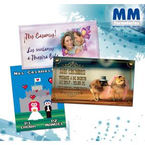 Tarjetas De Casamiento Invitaciones Personalizadas Original