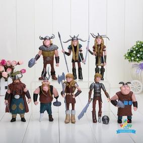 8 Bonecos Miniaturas Como Treinar Seu Dragão Vikings A228