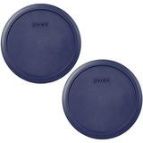 La Cubierta Plástica Azul De 2 X Pyrex Cabe 6 Amperios; 7 T
