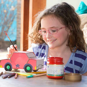 Auto Nenas Para Armar Pintar Juego Didáctico Carton