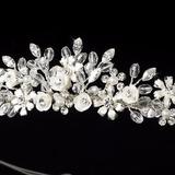 Corona Tiara Para Novia En Swarovsky Y Perlas Original