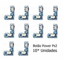 10 Botão Power Ps2 Liga/desliga Placa Reset Play2 70xx 70000