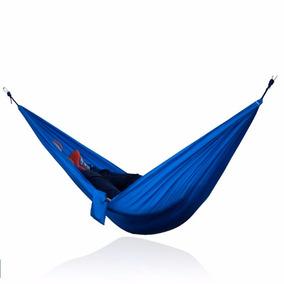Hamaca Portatil Para Dos Personas Camping Color Azul D3046