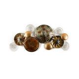 Cuadro Pared Figura Decorativa Platos Metal Campoamor Deco