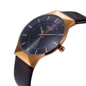 Reloj Elegante Metálico Ultra Delgado Hombre Original Julius