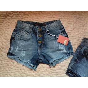 Shorts Jeans Feminino Moça Flor
