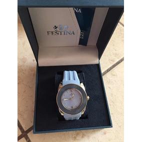 Reloj Festina Celeste 100% Original Y Nuevo
