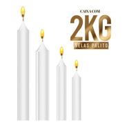 Vela Por Kilo Atacado - Cx 2kg - Branca - Vários Tamanhos