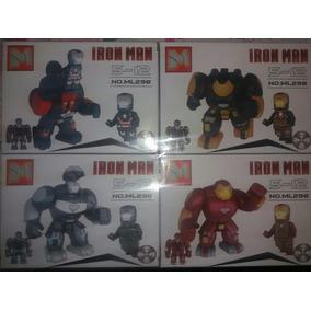 Lego Homem De Ferro - Kit C 4 Armaduras Diferentes Maior Tam