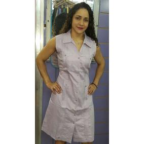 Guayabera Vestido De Cuadro S/m 100%