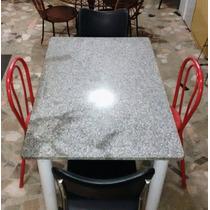 Mesa Cozinha Mármore Cinza Pé Branco Cadeiras Diferentes Boa