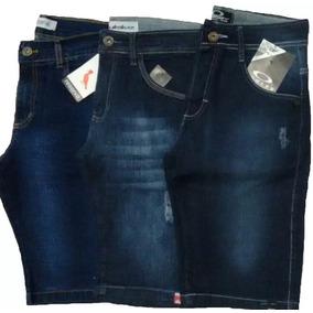 Kit /3 Bermuda Jeans Masculino Atacado Tamanhos Grandes